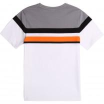 White Color Block Logo T-Shirt