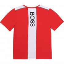 Red Panelled Logo T-Shirt (14 - 16 years)