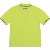 Lime Square Logo Polo Shirt