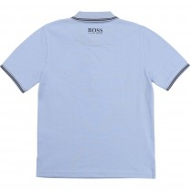 Baby Blue Square Logo Polo Shirt (14 - 16 years)