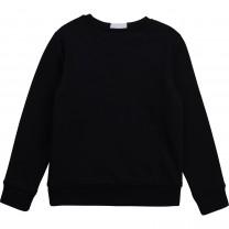 Black Stripe Logo Sweater