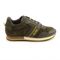 Olive Sporty Logo Shoes