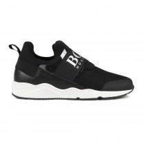 Black Logo Slip On Shoes