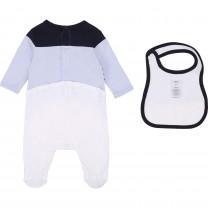 Baby Blue Logo Babysuit Set