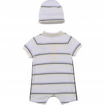 White Stripe Baby Set