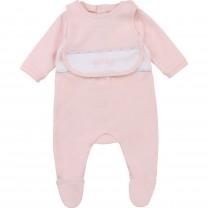 Baby Pink Pyjamas & Bib Set