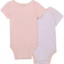 Baby Pink Logo Babysuit Set