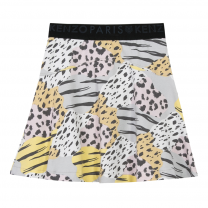Multi-colored Animal Print Skirt