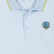 Boys Blue Tiger Polo Top