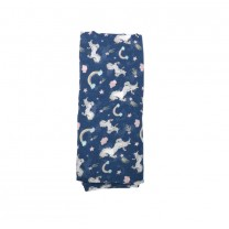 Navy Blue Unicorn Muslin Wrap
