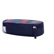 Navy Blue Superhero Pencil Box