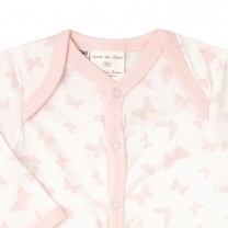 Pink Butterfly Long Sleeves Babysuit