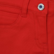 Red Cotton Shorts