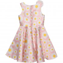 Pink Daisy Print Dress