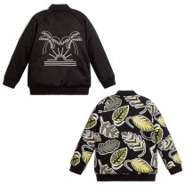 Black Veggie Reversible Bomber Jacket