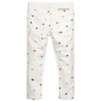 Ivory Multicolored Stars Relax Fit Jeans