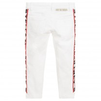 White Logo Jeans