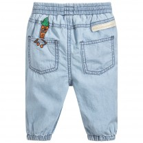 Unisex Blue Carrot Chambray Trousers