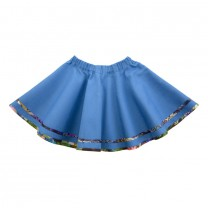 Blue Floral Trim Skirt