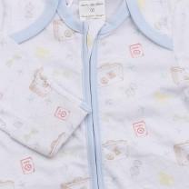 Zip Up Babysuit with Traveller Print
