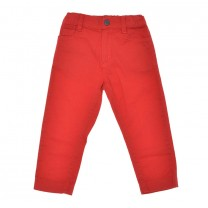 Red Regular Fit Trousers