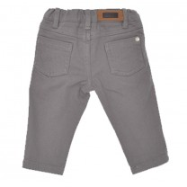 Grey Stretchy Regular Long Pants