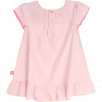 Pink Flower Embelished Baby Dress