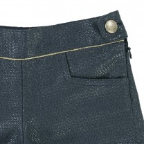 Dark Blue Scallop Short