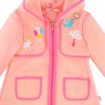 Pink Transparent Raincoat