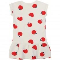 White Apple Printed Dress