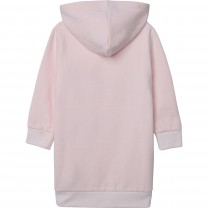 Baby Pink Heart Face Hoodie Dress
