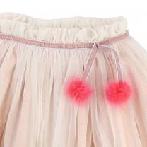 Pink Pompom Tutu Skirt