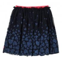 Navy Heart Tulle Skirt