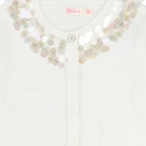White cardigan with Sparkly Collar