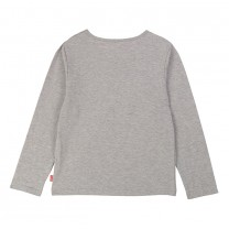 Grey Cotton Cat Top