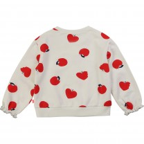White Apple Printed Sweater