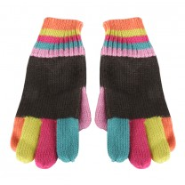 Multi-colored Knit Gloves