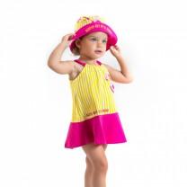 Yellow Flamingo Summer Hat