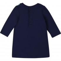 Navy Snapshot Baby Dress