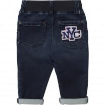 Patched Denim Pants