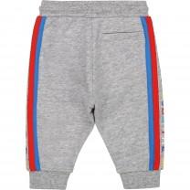 Grey Side Stripe Jogger Pants