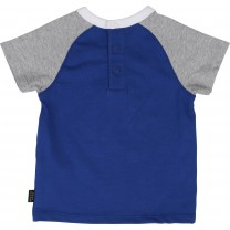 Blue Cotton Logo T-Shirt