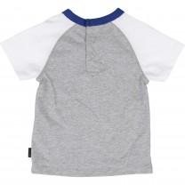 Grey Raglan Logo Print T-shirt