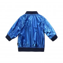 Metallic Blue Reversible Baby Jacket