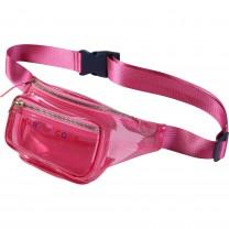 Pink Transparent Waist Bag