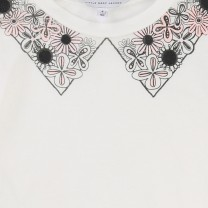 White Fake Collar Top