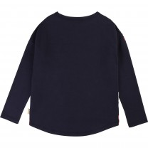 Navy Blue Girl Long Sleeve T-Shirt