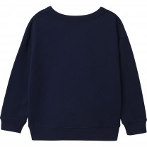 Navy Embroidered Logo Sweater