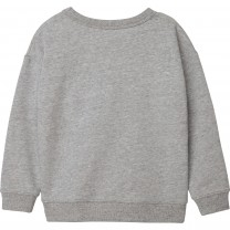 Grey Embroidered Logo Sweater