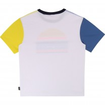 White Marc Jacobs Multi Stripe Logo T-Shirt